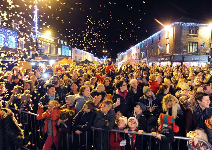 Bury St Edmunds light switch on 2017''Pictured: '''''PICTURE: Mecha Morton