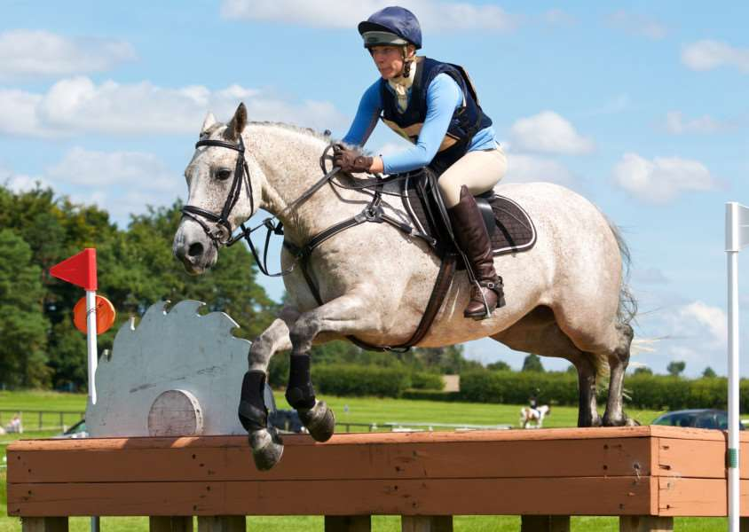 RISKY BUSINESS: India J Nichols and Knockmoy Cove jump a dangerous-looking cross country jump