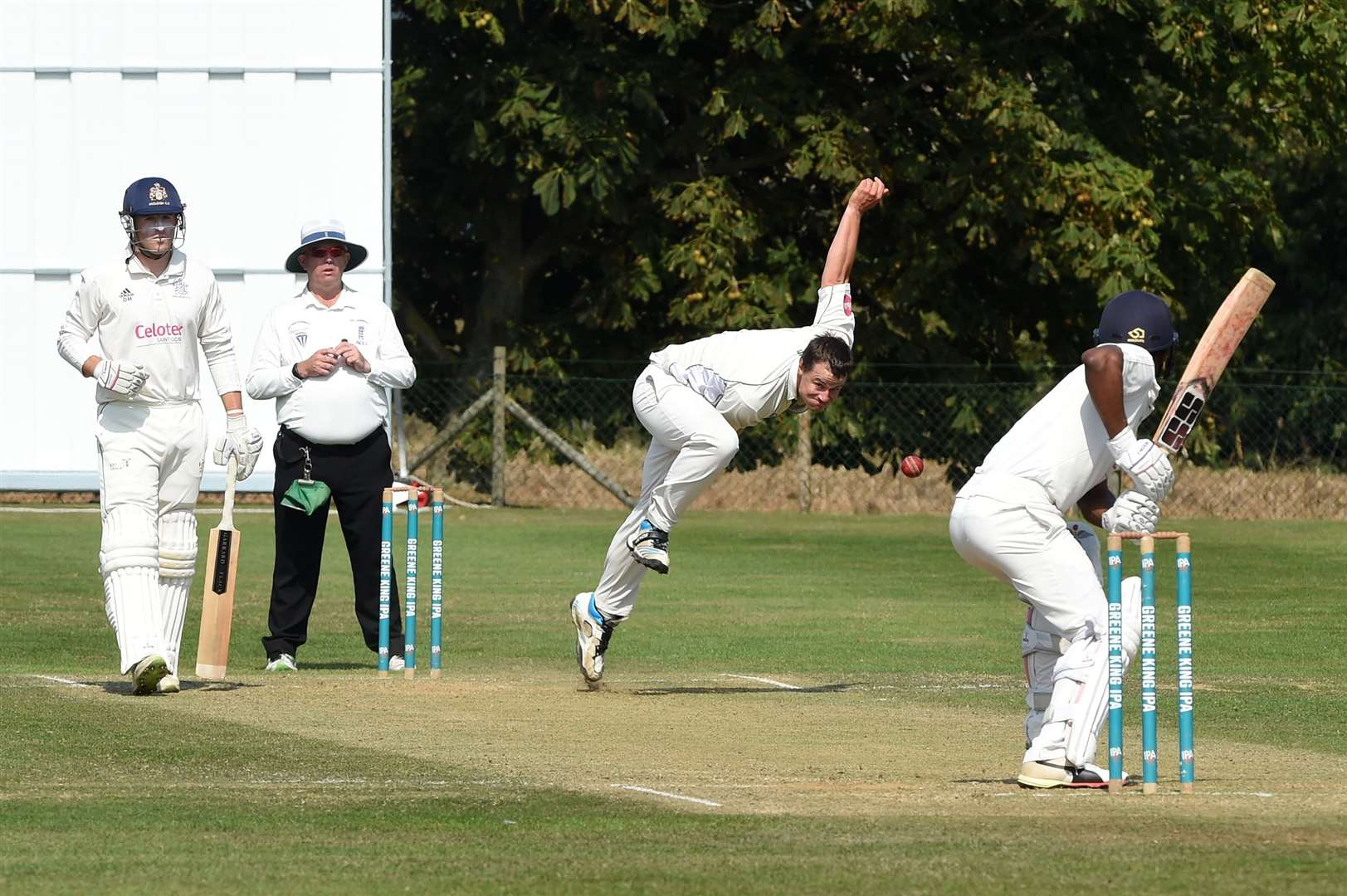 CRICKET - Woolpit (Bowling/Fielding) v Hadleigh (Batting)...Pictured: Will Parker bowling....PICTURE: Mecha Morton ... (15696496)