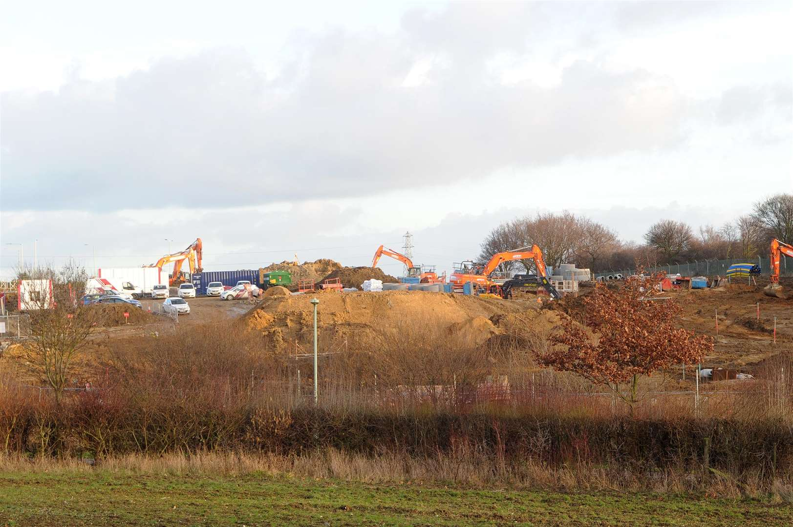 Site in Stowmarket where McDonalds will be ....PICTURE: Mecha Morton. (7104012)