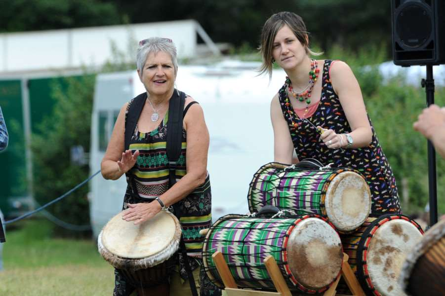 West Stow Dragon Festival 2016''Pictured: West Stow Drummers ANL-160626-201028009