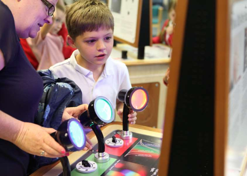 A pupil takes part in one of the Science Days at Samuel Ward Academy ANL-150707-120416001