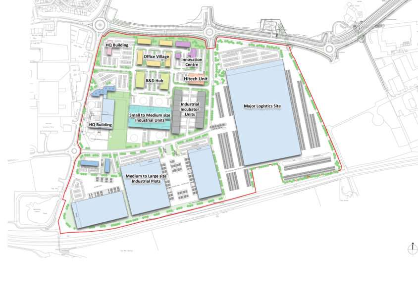 Example layout of the Suffolk Business Park, in Bury St Edmunds, submitted by development promoter Jaynic ANL-170601-153612001