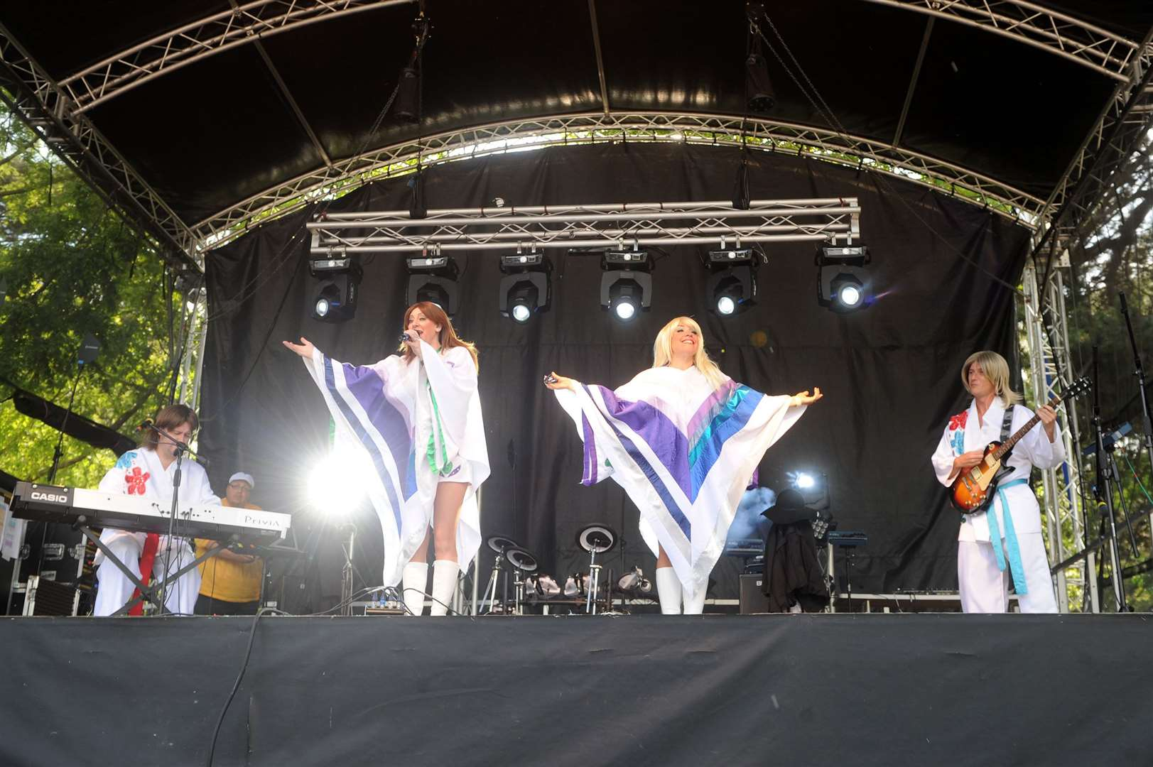 The Nearly Festival has featured many tribute acts covering bands including this group as ABBA.Picture: Mecha Morton