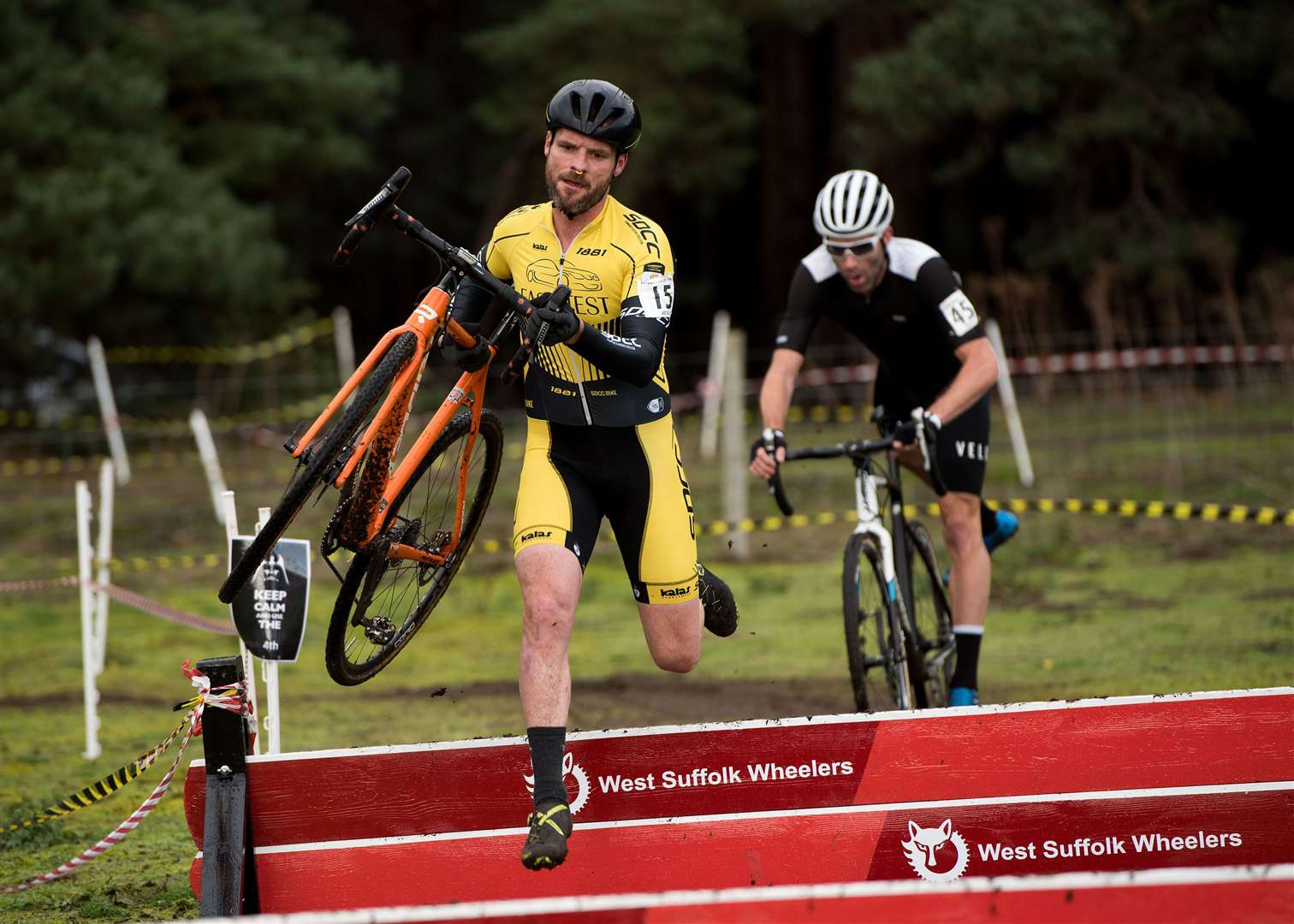 West Suffolk Wheelers will be holding Round 7 of the Eastern Cyclo-Cross League on Saturday 2nd November 2019 at West Stow Country Park..Veteran Men 40-49 Race Picture by Mark Westley. (21005018)