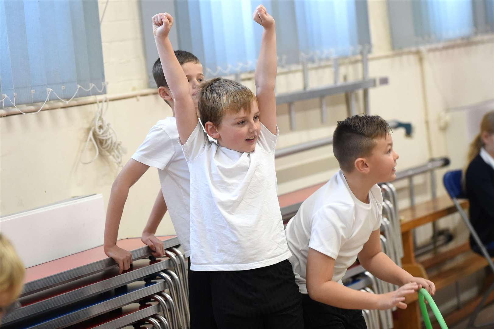 Glemsford Primary Academy staged a sports themed event to encourage youngsters to keep fit...PICTURE: Mecha Morton .... (22635384)