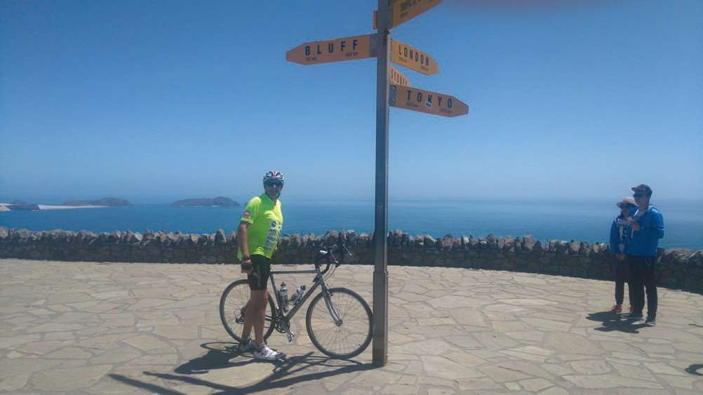 Stuart Bayne raised more than �30,000 for Down's Syndrome Associations after completing a marathon cycle ride through New Zealand