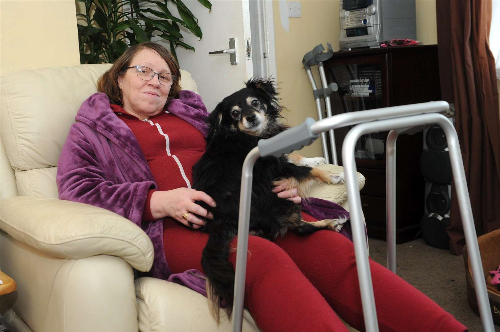 Lynn Curtis has been disabled since 1991 when she was hit by a car in London. She has been out of work since then but after an assessment this month has been told she is suitable to work and must attend an activity course.PICTURE: Mecha Morton (2278966)