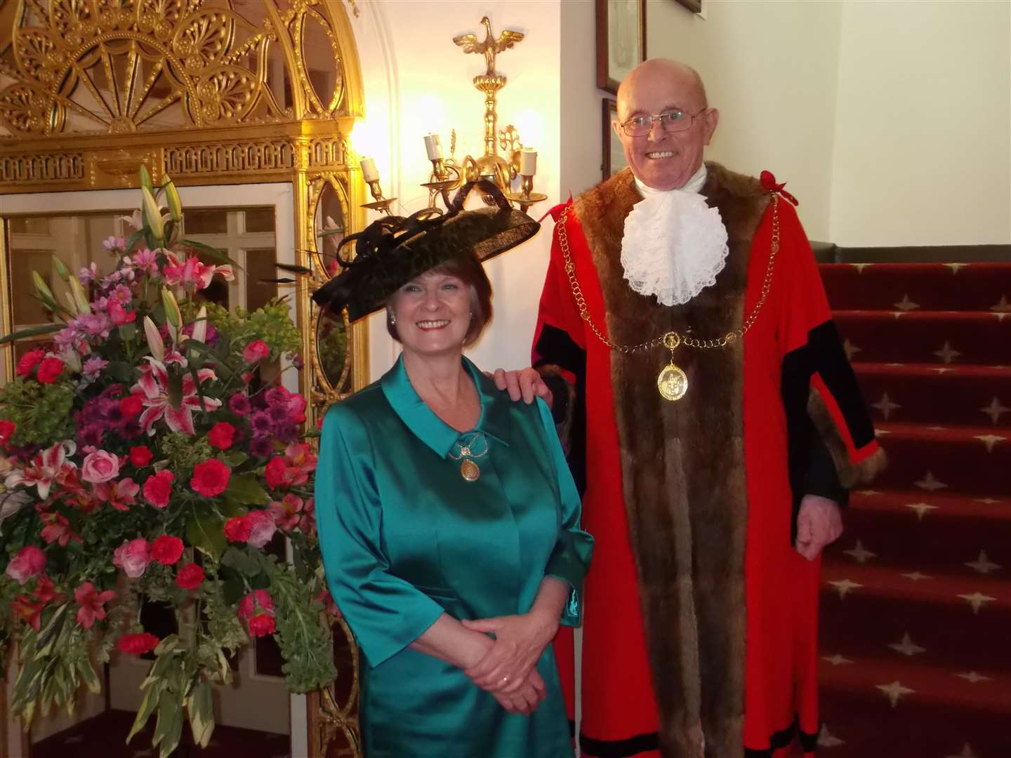 Tim and Margaret Marks on the occasion of his St Edmundsbury mayor making