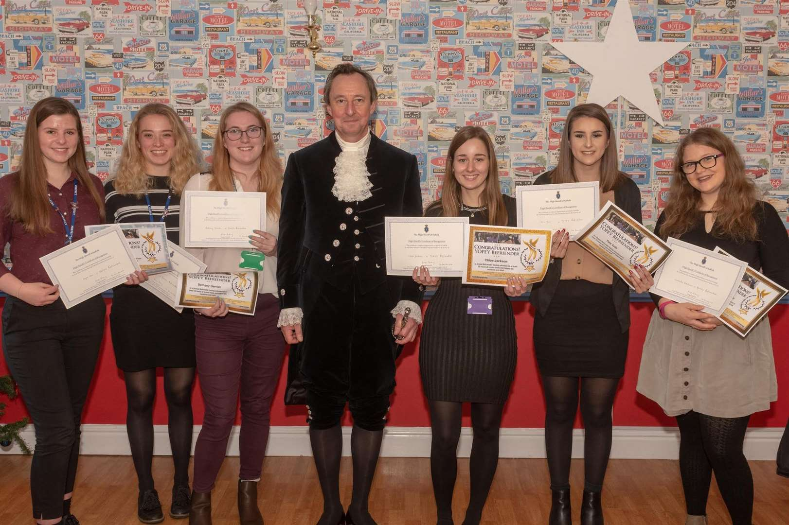 Volunteers from Yopey charity were presented with achievement certificates on a visit by the High Sheriff. (5939694)