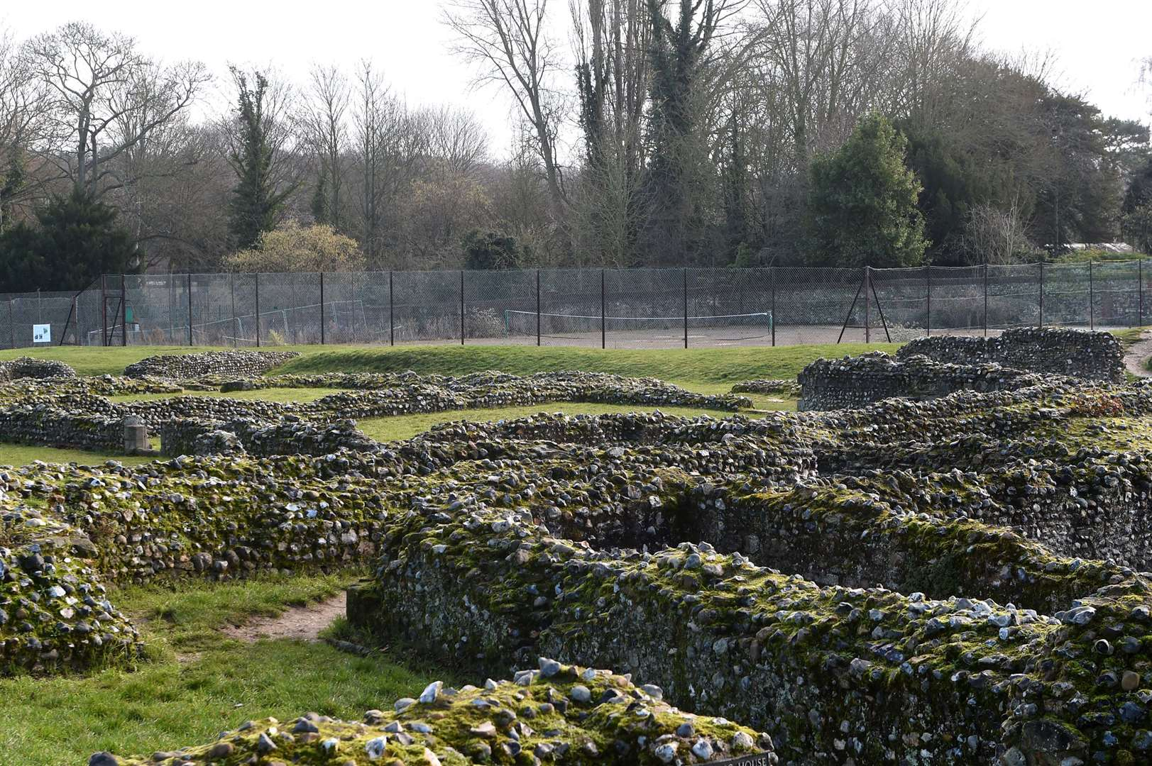 Abbey Gardens - old tennis courts. Picture: Mecha Morton