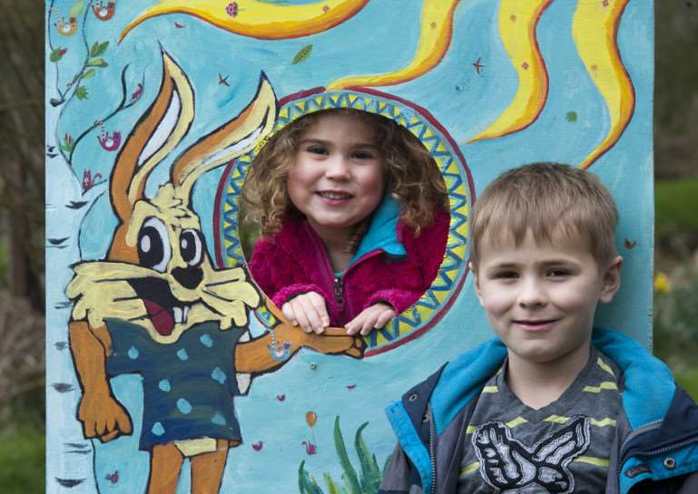 Easter Family Fun at Pakenham Water Mill. 'Luke (6) and Ella Phillips from Gazeley ANL-150604-225010009