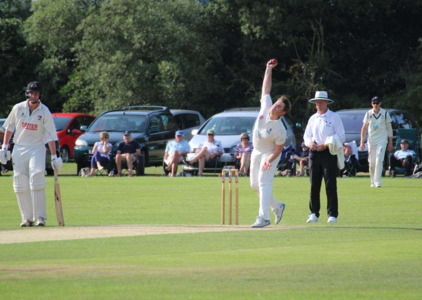 DRAWN MATCH: Suffolk's Jake Wakelin bowling in Norfolk's first innings during the drawn match at Manor Park