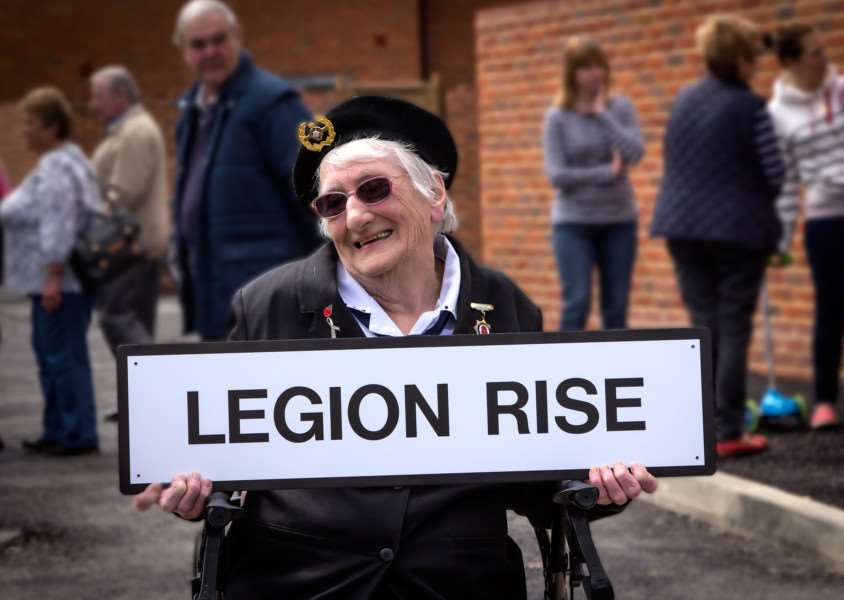 Bardwell Royal British Legion chairwoman Sheila Ashford is pleased with Legion Rise's name. Picture by Tony Stokes ANL-150515-172702001