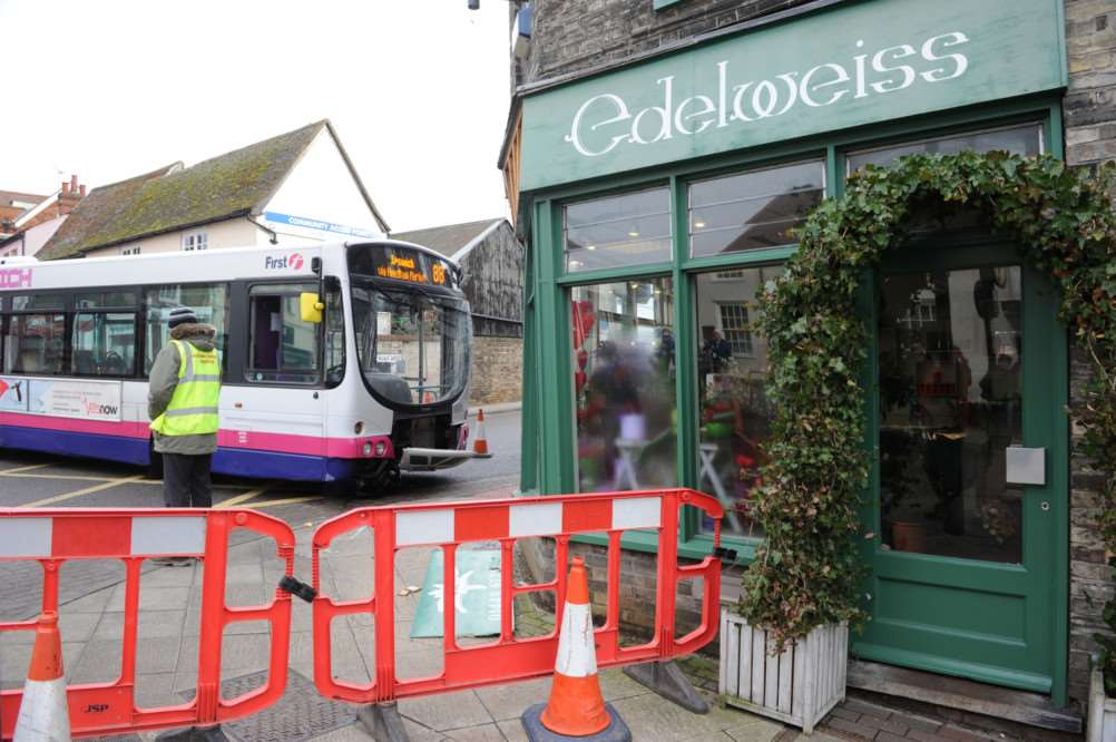 A bus crashed into the florists last February causing structural damage to the building