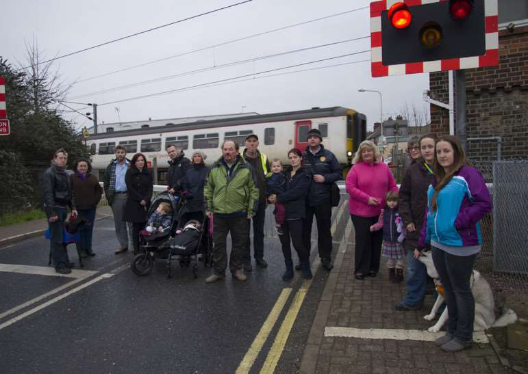 Campaigners concerned at threatened level crossing closures' pictured here at Stowmarket main railway crossing.