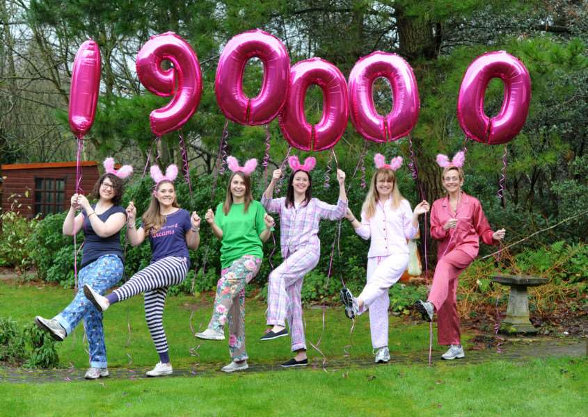 Photo-call at the hospice to announce the total raised by Girls Night Out 2015.''Pictured; Georgina Bissell, Rachel Card, Claire Butler, Charlotte Ruddock, Miranda McCoy and Jenny Baskett ANL-161101-171946009