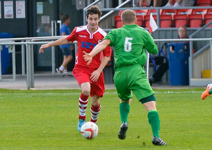 Ryan Weaver won the penalty from which Haverhill Rovers scored their goal in the 1-1 draw with Swafham Town