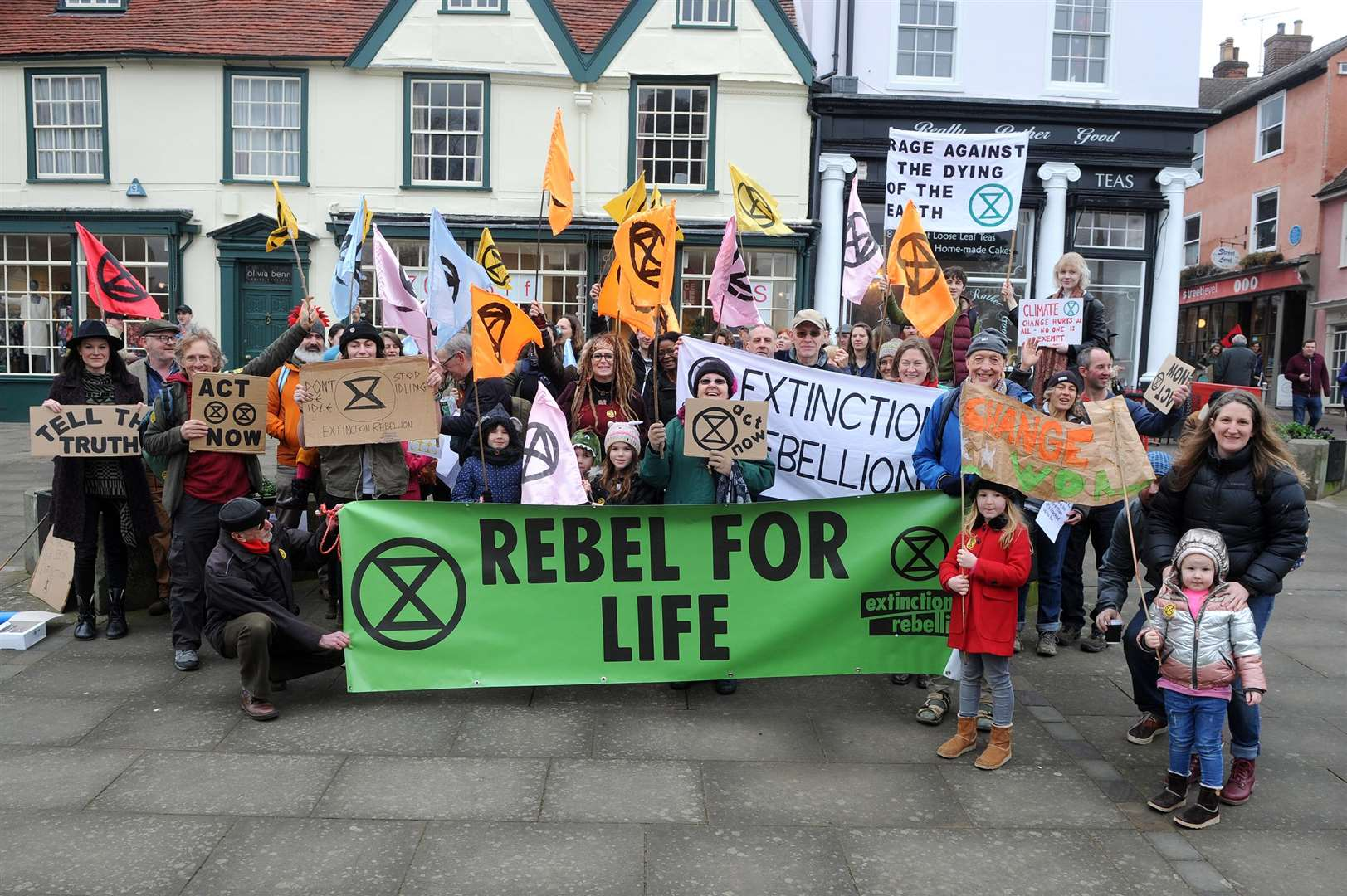 Extinction Rebellion is a non-violent protest organisation which is trying to get the government to do something about climate change. They held a march in the centre of Bury on Saturday...PICTURE: Mecha Morton. (7228452)