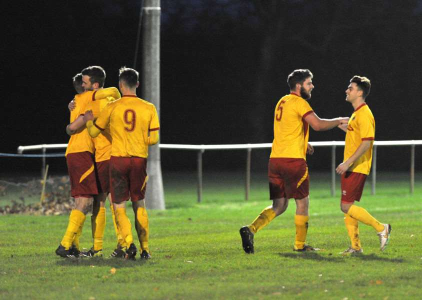GAINING MOMENTUM: Walsham-le-Willows built on a 4-0 over Hadleigh United (pictured) last week with a 1-1 draw with Mildenhall Town on Saturday