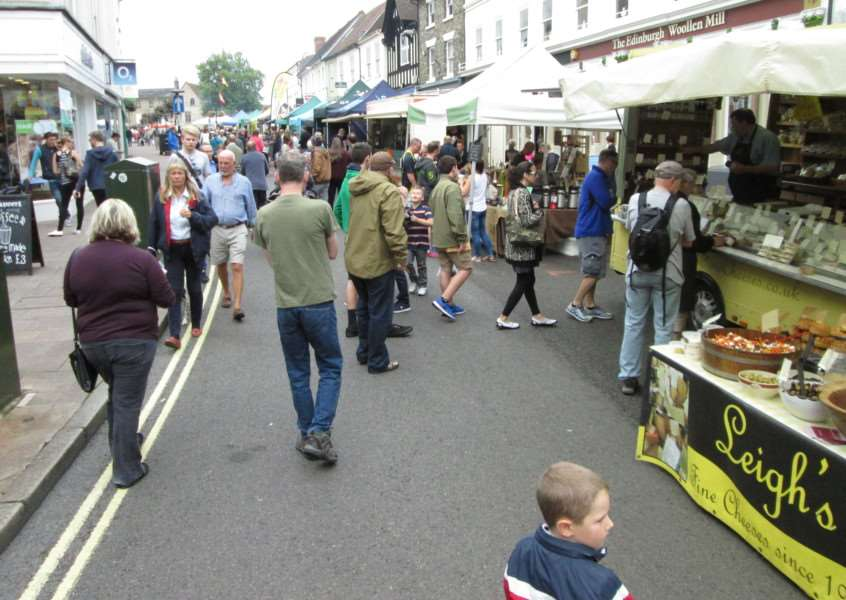 What's for lunch? Crowds browse the stalls at Bury's Food & Drink Festival ANL-150830-124143001