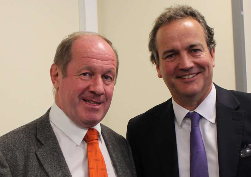 Suffolk PCC Tim Passmore, left, with Minister of State for Policing and'the Fire Service Nick Hurd
