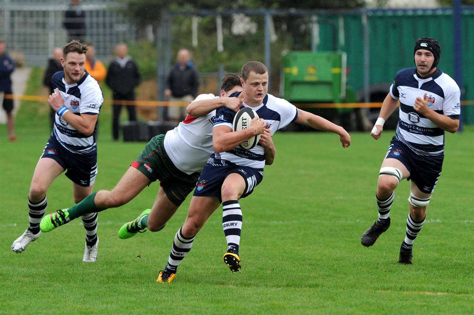 CRUCIAL SCORE: Dan Harding, pictured earlier in the season, got Sudbury's first of two late tries at Fullerians
