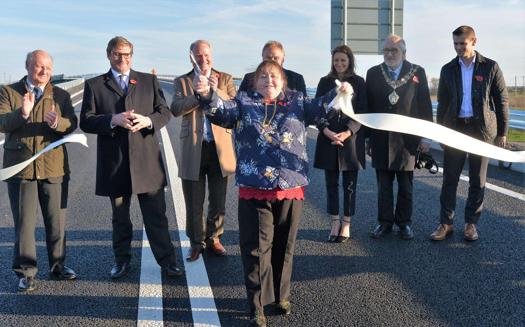 Ely by-pass opening (5146418)
