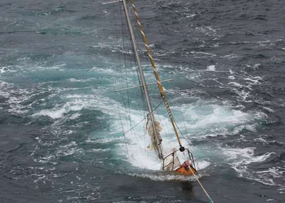 82-year-old Julian Mustoe's yacht, Harrier of Down, sunk while being towed in the North Sea. Now homeless, he has been put up by a Wortham couple who have launched a �25,000 appeal to get the sailor back on his feet. ANL-151014-151912001