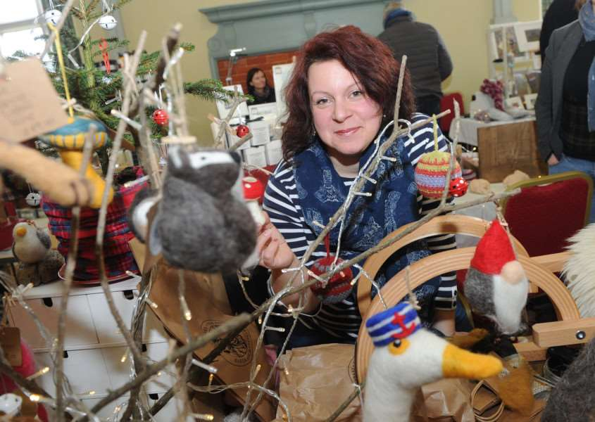 Hartest Winter Festive Market''Pictured: Sarah Hubbard - Fibre artisan '''PICTURE: Mecha Morton'''''''PICTURE: Mecha Morton