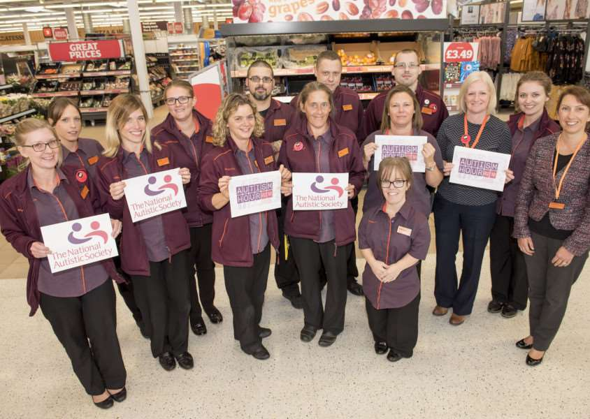 Sainsbury's store taking part in Autism Hour campaign Sainsbury's Cornard Road, Great Cornard store manager Jo Francis with some Sainsbury's staff who are taking part in Autism Hour, during which the store will take steps to be more autism friendly, by turning down the tannoy and caf� music and creating a calmer shopping environment, as well as providing information about autism. Picture Mark Westley