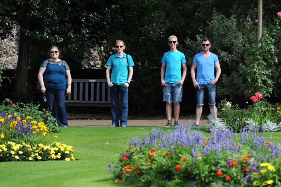 Human Colour Wheel in the Abbey Gardens ANL-160821-235238009