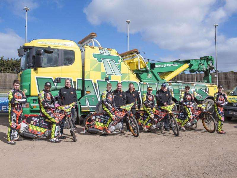 STILL WAITING: The Mildenhall Fen Tigers' riders and management team, pictured at their press and practice day, have now seen two meetings at their West Row track called off due to the wet weather Picture: Mark Westley