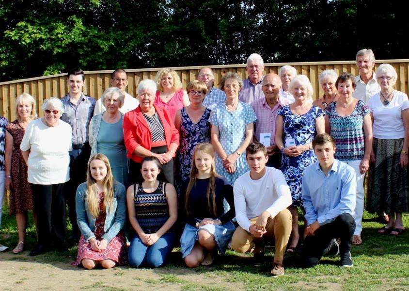 Some of West Suffolk NHS Foundation Trust's long service volunteer award winners and student volunteers