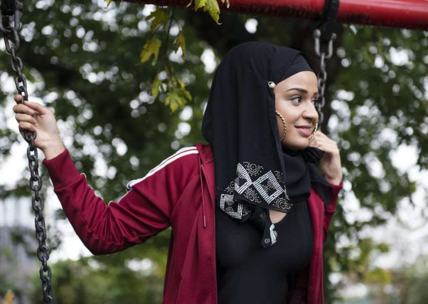 Ambreen Razia wrote and stars in The Diary of a Hounslow Girl. Picture: Talula Sheppard ANL-160605-150512001
