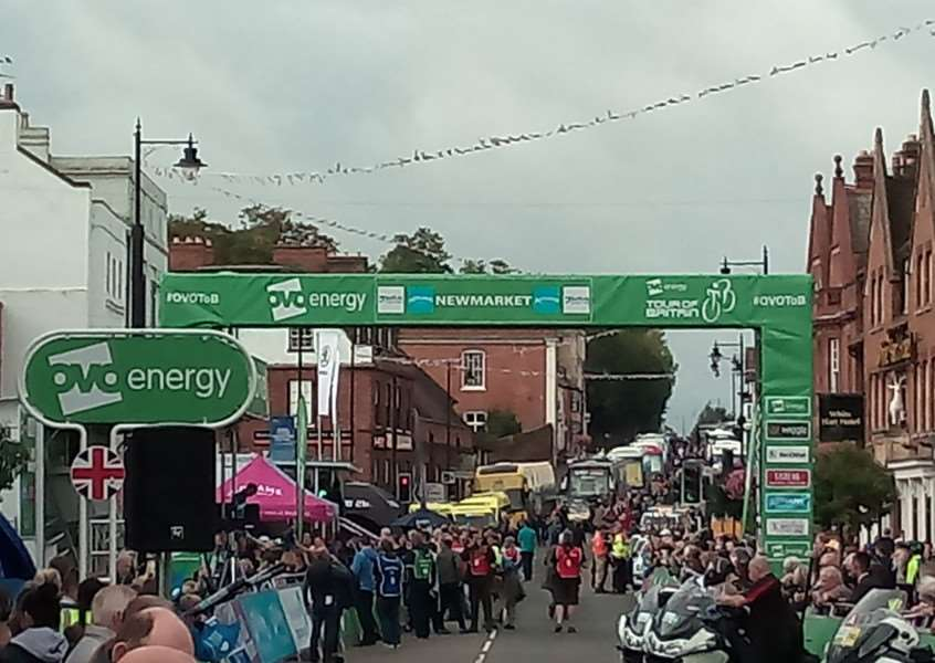 The Tour of Britain started in Newmarket for the first time