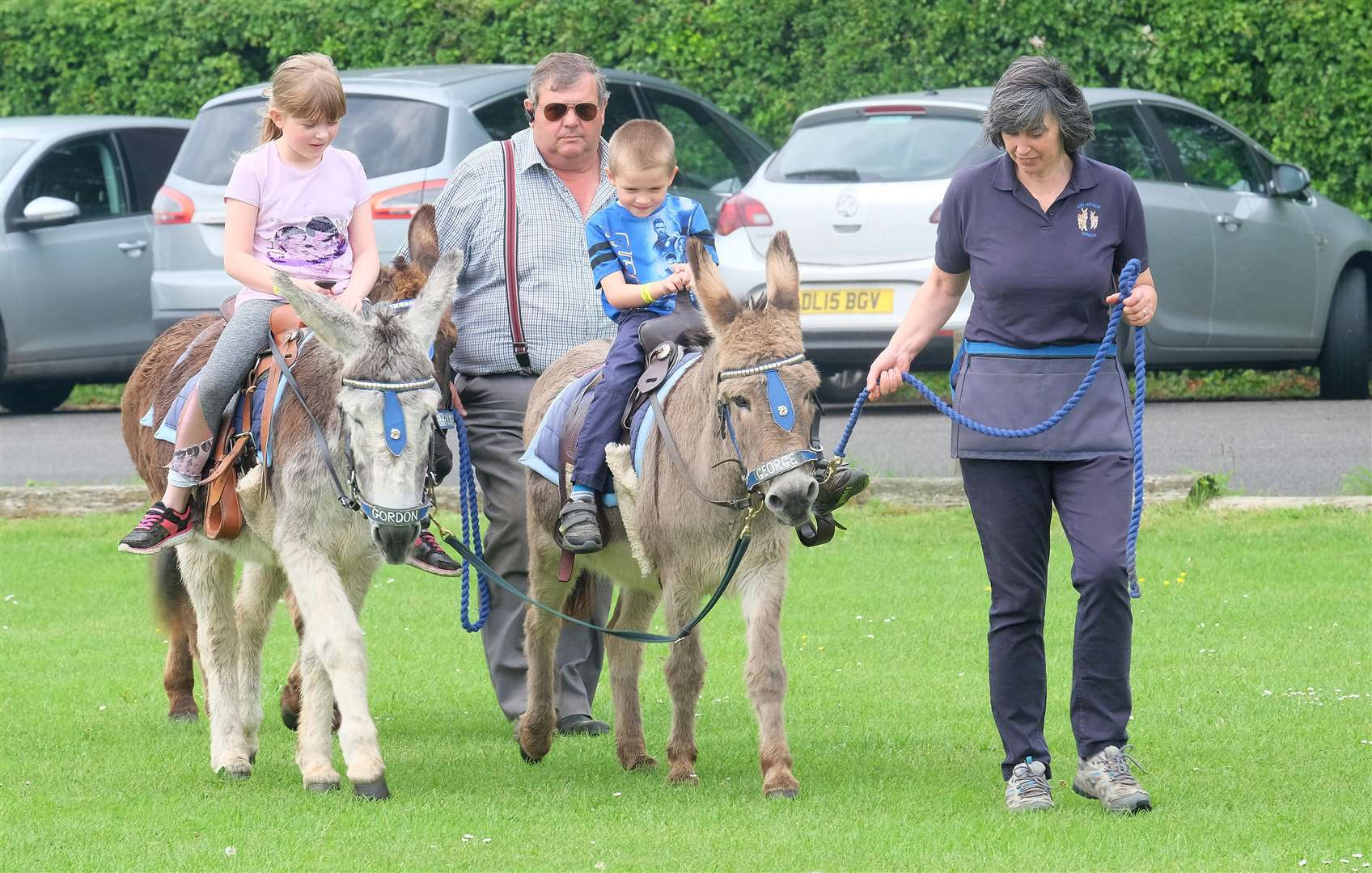 Sophie Dykes, 9 and Luca Dykes, 5 enjoy the family fun day at Acton Village Hall.Pic - Richard Marsham (2230459)