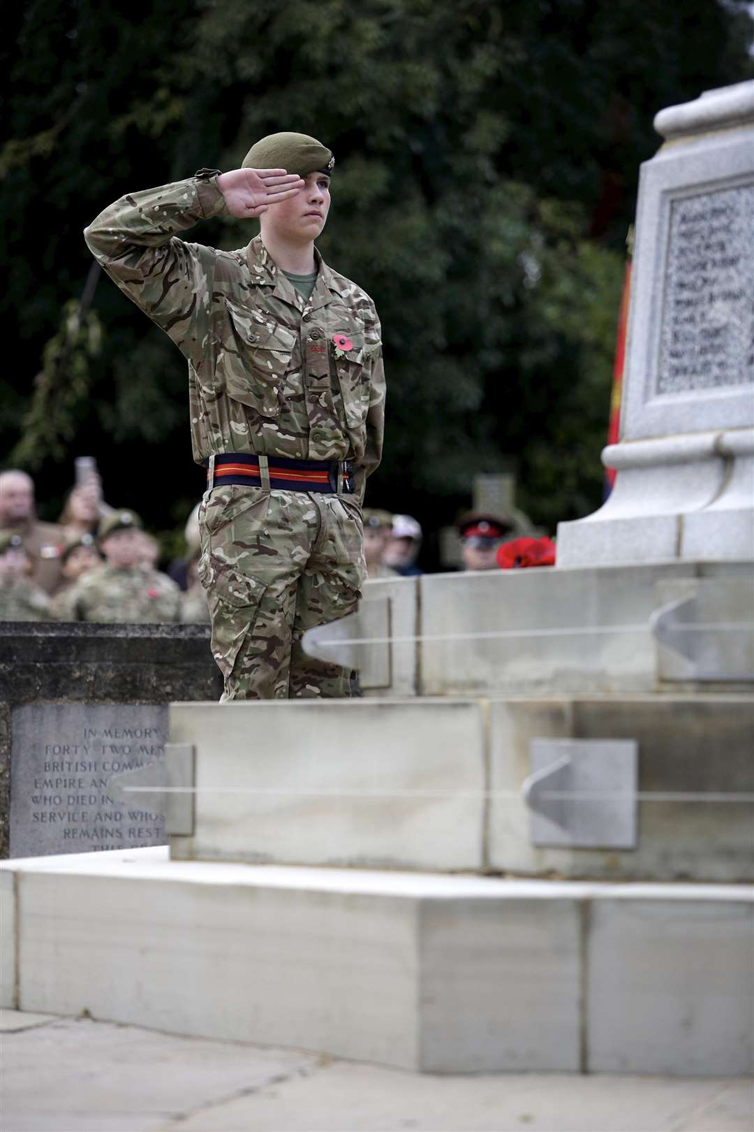 respects are paid at Haverhill war memorial on Remembrance Day. Picture: Mark Bullimore