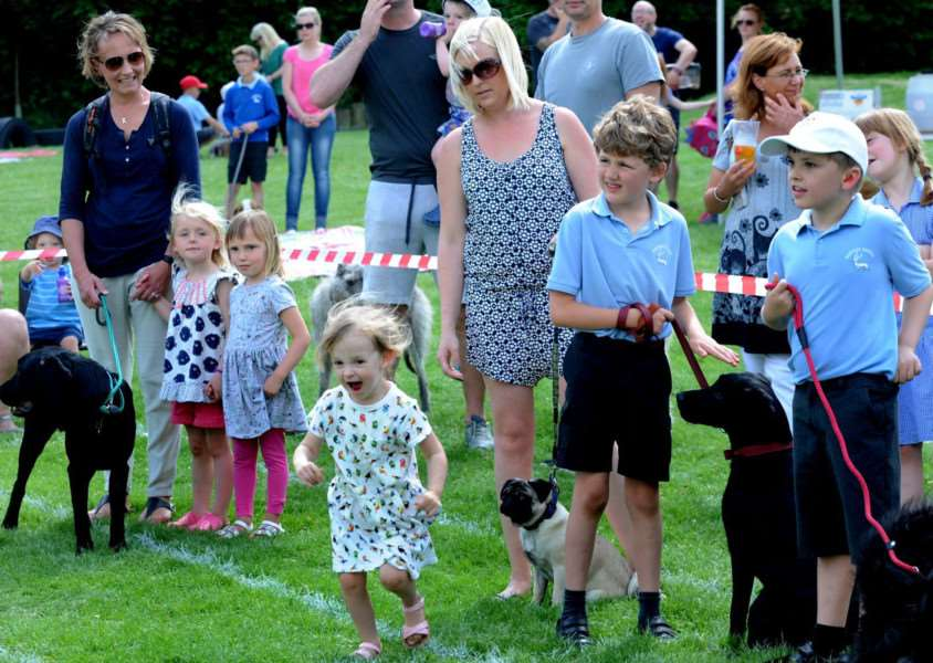 A Fathers' Day BBQ and Pet Parade was organized by Friends of Hartest School as a fundraising event to pay for the pool being relined.