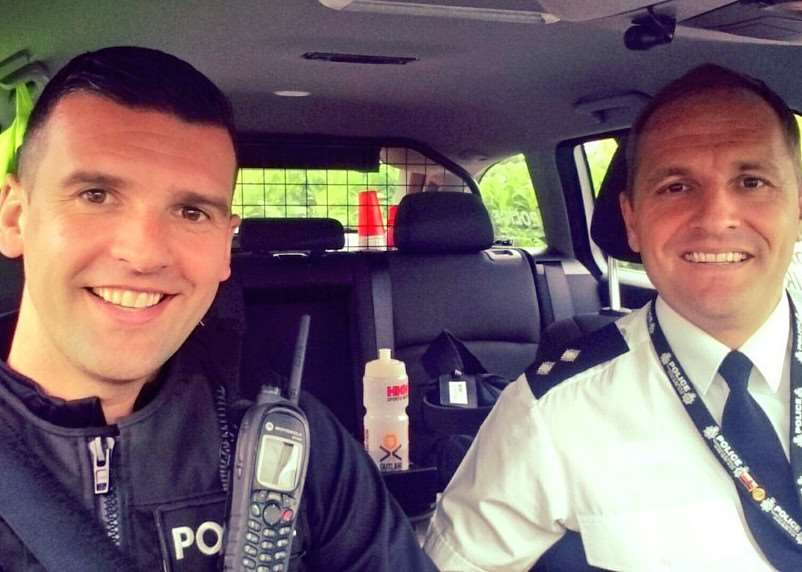 Norfolk and Suffolk Road Policing buckle up for a #seatbeltselfie as part of the campaign