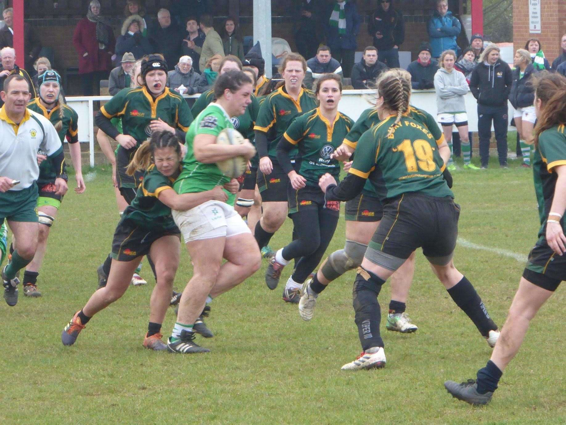 Match action from Bury Foxes' promotion play-off against Sutton Colfield at Wellingborough RFC (8337936)