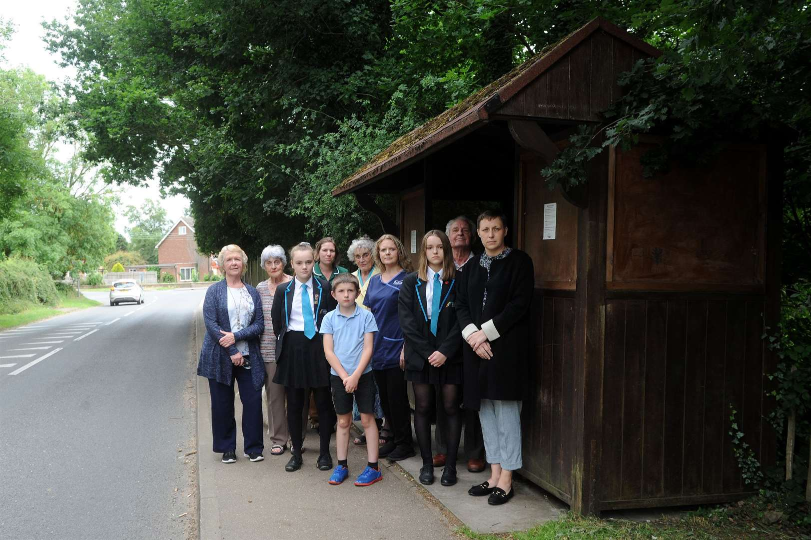 Parents in Great Waldingfield are angry at impending changes to Suffolk's free school transport policy, meaning pupils attending Ormiston Sudbury Academy will have to pay for a school bus starting in September 2019, or walk over 2 miles along a main road.....PICTURE: Mecha Morton... (13255695)