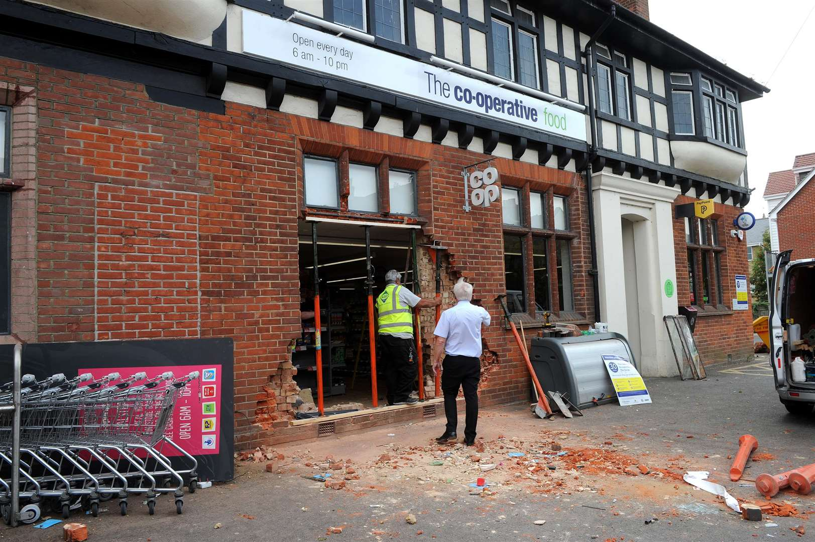 The Co-operative in Halstead was ram raided on Monday night.....PICTURE: Mecha Morton. .. (3490278)