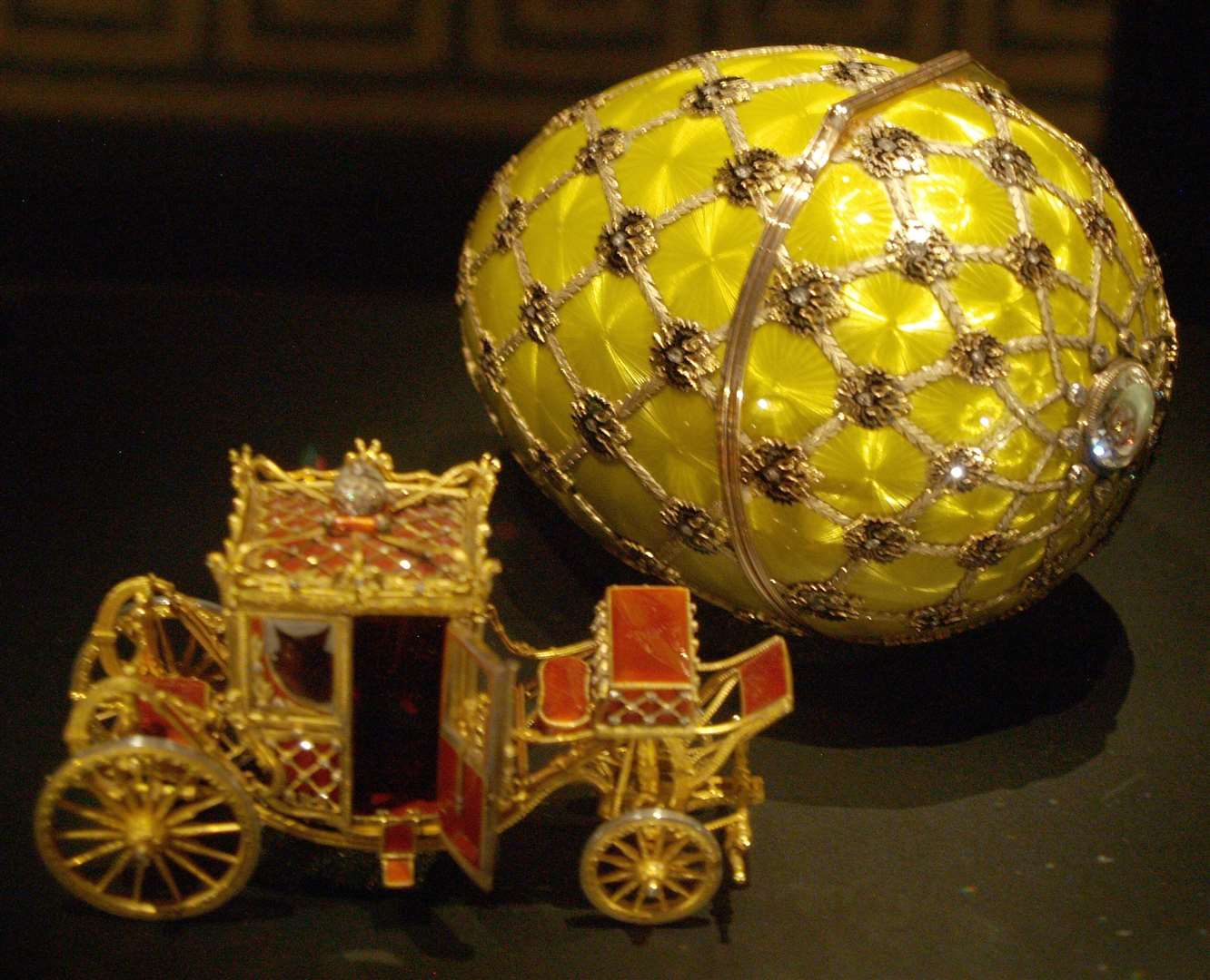 The Imperial Coronation Fabergé egg is perhaps his best known work for the Russian Tsars. Picture: Miguel Hermoso Cuesta