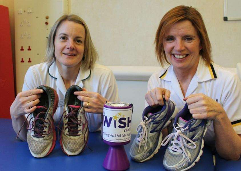 Jill Bunch and Heather Ruff are running the London Marathon for My WiSH