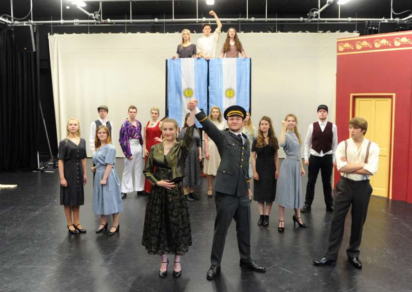 Suffolk Young People's Theatre show of Evita