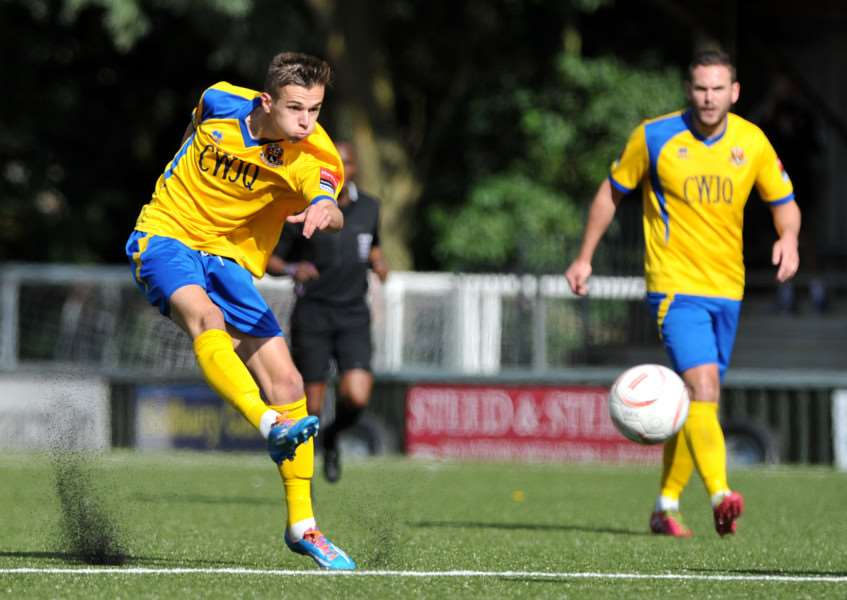 FOOTBALL - AFC Sudbury v Maldon & Tiptree''Pictured: Jordan Blackwell ANL-150920-184948009