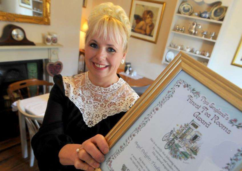 Angel Delight Tea Rooms in Hadleigh has won a special award. Pictured is Helen Golland.