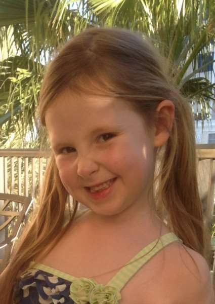 Daisy Brooks, 7, who died following a seven month battle with a brain tumour. Pictured on Holiday in Florida in February 2014. ANL-141119-140458001