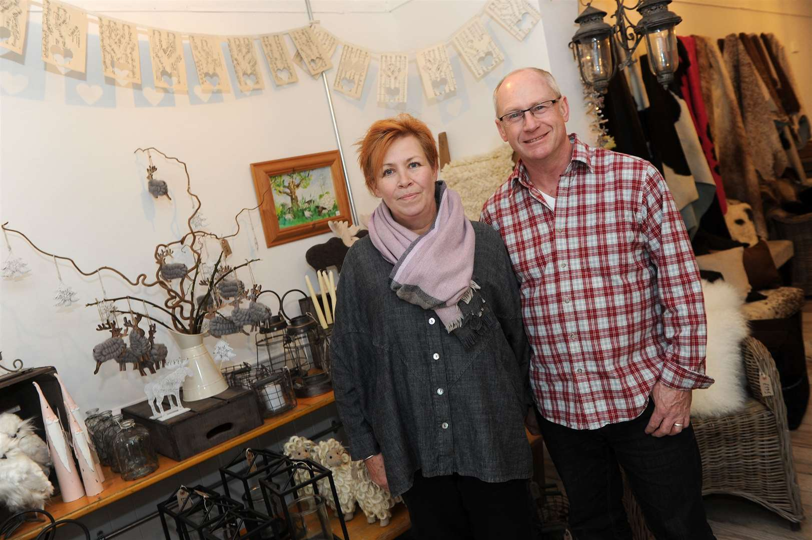 Tim Farnsworth and Liza Elliott of The Shop - Just Our Stall in St John's Street